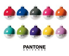 If It's Hip, It's Here: Color Me Christmas! 10 New Pantone Christmas Ornaments.
