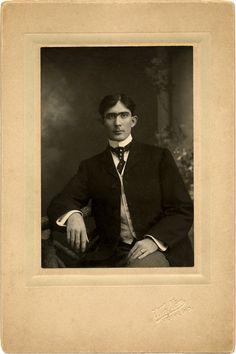 Old Photo Image Unibrow Man