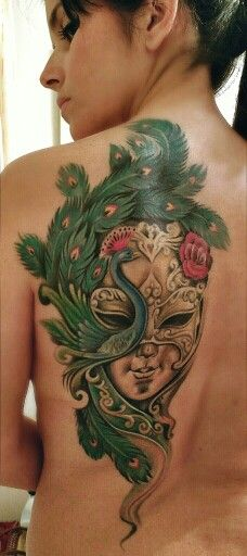 My venetian mask tattoo by Astin tattoo @ aerografias, Córdoba, Spain