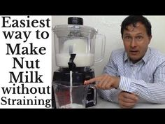 Easiest Way to Make Nut Milk in Minutes without Straining - Nutramilk Re. Homemade Kind Bars, Video Google, Kitchen Gadgets, Essential Oils, Healthy Eating, Milk, Easy, Machine Video, Juicers