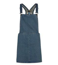 Cameo Blue Dark Blue Denim Pinafore Dress