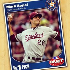 With the 1st overall pick of the MLB Draft, Astros select RHP Mark Appel out of Stanford University.