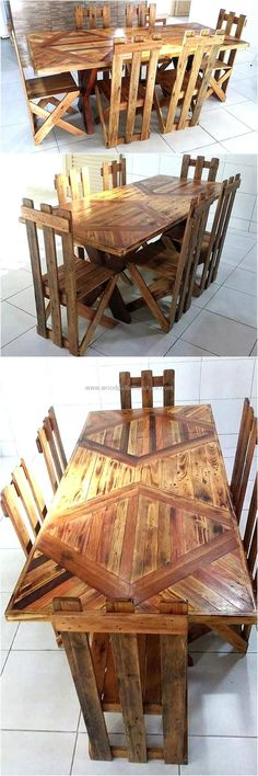 DIY Ideas for Pallet Furniture Projects and Plans. on Wood Pallet Furniture… Wood Pallet Recycling, Pallet Crafts, Recycled Pallets, Diy Pallet Projects, Pallet Ideas, Wood Pallets, Woodworking Projects, Wooden Pallet Furniture, Recycled Furniture