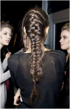 French braid - I remember doing a lot of these when my girls were little