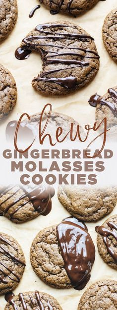 Gingerbread Molasses Cookies with Dark Chocolate A Simple Palate Gingerbread Molasses Cookies with Dark Chocolate A Simple Palate A Simple Palate ASimplePalate HEALTHY DESSERT Recipes Healthy christmas cookies nbsp hellip Chocolate Avocado Brownies, Chocolate Covered Bananas, Chocolate Drizzle, Blueberry Crumble Bars, Strawberry Oatmeal Bars, Quick Healthy Desserts, Great Desserts, Dessert Ideas, Peanut Butter Substitute
