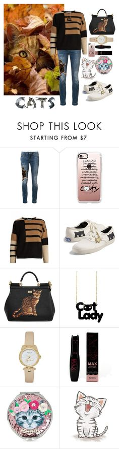 """""""Cat lady is not a bad thing"""" by lilian-n1113 ❤ liked on Polyvore featuring Dolce&Gabbana, Casetify, MaxMara, Keds, Kate Spade and Betsey Johnson"""