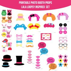 Instant Download Baby Doll Lala Loopsy Inspired Printable Photo Booth Prop Set