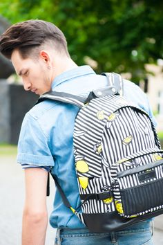 INDULGE YOUR WANDERLUST #AMI #Backpack #Denim #Denimshirt #AcneStudios