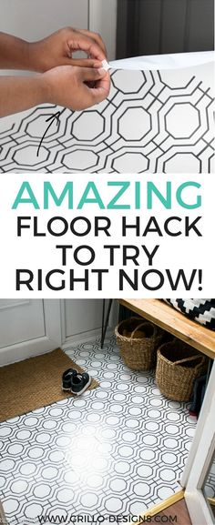 How to Wallpaper A Floor - a renter-friendly alternative! & 169 best Flooring Solutions images on Pinterest in 2018 | Home decor ...