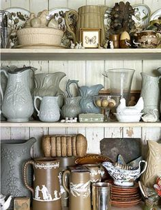 ...taupe wedgewood -- I am familiar with blue, green & black.  This is a first for me. color pallet