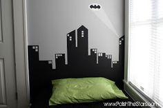 Polish The Stars: Gotham City Painted Headboard