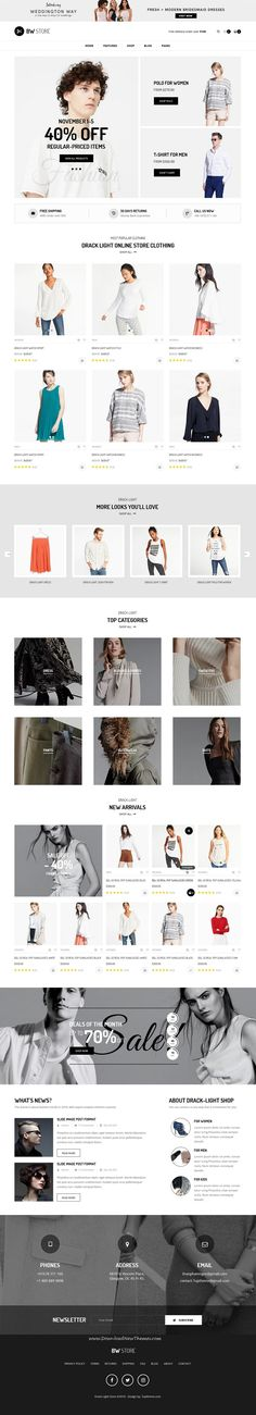 BW Store is clean and modern design PSD template for stunning #fashion store #eCommerce website with 16 layered PSD pages to live preview & download click on Visit