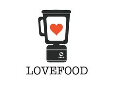 LOVE FOOD - Logo Design by Laura C. Corbilla, via Behance