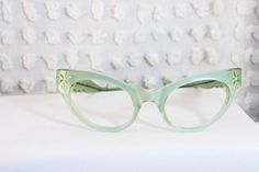 Vintage 1950s Cat Eye Glasses 50s Womens by THAYEReyewear on Etsy, $124.00