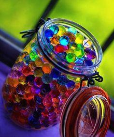 Jar filled with marbels