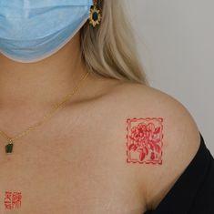 Red Ink Tattoos, Dainty Tattoos, Pretty Tattoos, Mini Tattoos, Unique Tattoos, Cute Tattoos, Body Art Tattoos, Tatoos, Piercing Tattoo