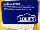 Lowes Gift Card $176.90  L@@K!!!