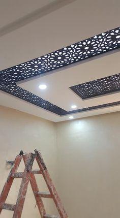 Home Room Design, Home Stairs Design, Jaali Design, Pop False Ceiling Design, Apartment Interior Design, Ceiling Design, Spa Decor, Roof Design, Living Room Designs