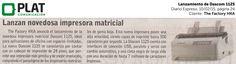 The Factory HKA: Lanzamiento de impresora Dascom 1125 en el diario Expreso de Perú (10/02/15)