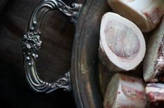 It may not look appetizing (bones) but what a great idea for awesome homemade stock instantly!