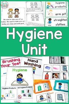 Students will learn the vocabulary surrounding hygiene and taking care of our bodies while reinforcing reading and other life skills. These materials are adapted for special education students, autism programs, life skills programs, and speech therapy. Life Skills Lessons, Life Skills Activities, Life Skills Classroom, Teaching Life Skills, Teaching Special Education, Autism Classroom, Autism Education, Education Galaxy, Preschool Life Skills