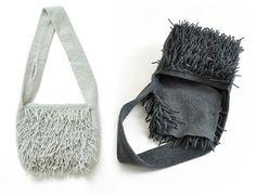 felt fringe shoulder bag