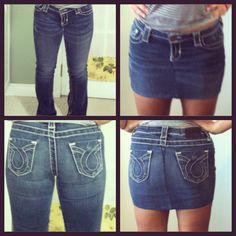 DIY jean skirt!