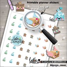Happy Mail Stickers, Printable Planner Stickers, Package Stickers, Orders, Box Stickers, Erin Condren, Kawaii Stickers, Planner Accessories