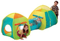 Schylling Combo Set Schylling -- Tents and tunnel combination. So fun! (Colors work in our house.) -- Holly and Adam got this.