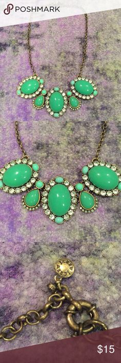 J. Crew Necklace Necklace with prominent greenish blue stones from J. Crew. J. Crew Jewelry Necklaces