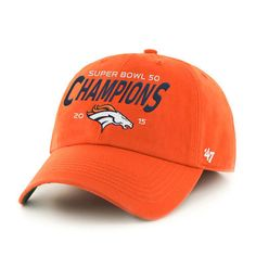 ad16c3c3f7e Denver Broncos  47 Super Bowl 50 Champions Franchise Fitted Hat - Orange   franchise