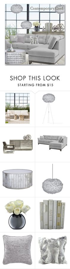 """""""Contemporary Cool"""" by leanne-mcclean ❤ liked on Polyvore featuring interior, interiors, interior design, home, home decor, interior decorating, Palecek, Worlds Away, Eos and LSA International"""