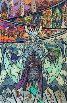 Fall of Arthas by breathing2004 (I especially love the 2nd to top panel)  http://us.battle.net/wow/en/media/fanart/?keywords=#/fanart-1260