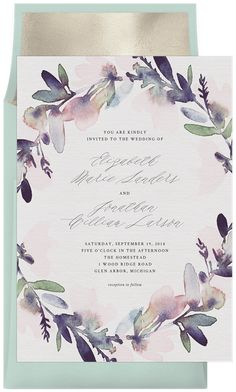 Watercolor Floral Wreath by A Fresh Bunch | Greenvelope.com