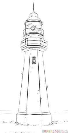Comment dessiner un phare | étape par étape tutoriels de dessin