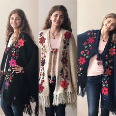Crochet Cardigan Pattern, Crochet Shawl, Crochet Lace, Embroidery On Clothes, Ribbon Embroidery, Boho Outfits, Vintage Outfits, Winter Outfits, Shawl Patterns