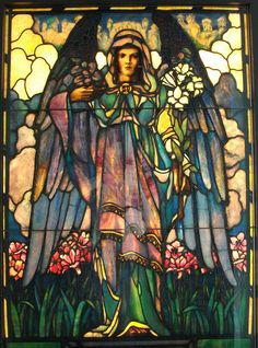 Stained glass angel. (1/19/2014)  Art: Stained Glass  (CTS)