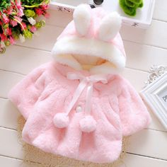 $13.51 Plush Bunny Ears Hooded Cloak online with cheap prices and discover fashion  at Popreal.com.