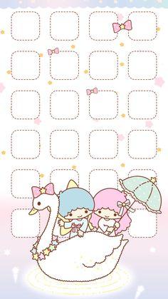 Sanrio Wallpaper, Wallpaper App, Kawaii Wallpaper, Wallpaper Backgrounds, Kawaii Disney, Cute Wallpapers, Iphone Wallpapers, Sanrio Characters, Little Twin Stars