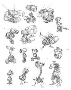 Original Ratchet & Clank Concept Art Revealed - IGN. Principles of design in use: variety, contrast, proportion.