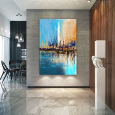 Extra Large Wall Art Palette Knife Artwork Original Painting,Painting on Canvas Modern Wall Decor Contemporary Art, Abstract Painting Large Abstract Wall Art, Large Painting, Abstract Canvas, Painting Abstract, Painting On Wall, City Painting, Large Canvas Wall Art, Knife Painting, Diy Canvas