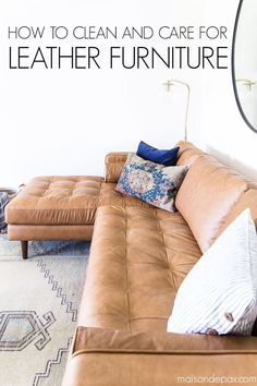 Country Home Decor Find out how to care for leather furniture quickly and easily with these tips on how to clean leather furniture! Home Decor Find out how to care for leather furniture quickly and easily with these tips on how to clean leather furniture!