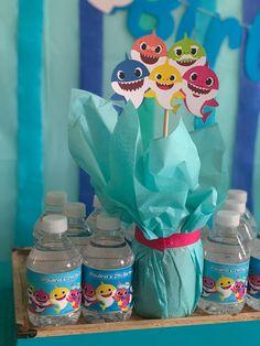 Happy Shark, Flamingo Wallpaper, Shark Party, Boy Birthday, First Birthdays, Children, Baby, Chloe, Style
