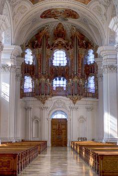 Gabler-orgel  -basiliek - abdij van Weingarten 1737 -1750  Joseph Gabler.
