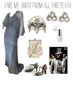 """Movie night in grey"" by dtlpinn on Polyvore featuring Gina Fratini, Vintage and OPI"