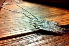 "Pendant ""STALATTITE"" lost wax silver 925, handmade by extrême"