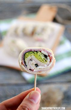Ham & Cheese Roll Ups are a great way to jazz up lunch boxes and they are one of our most popular party appetizers!