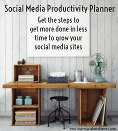 If you want to make more sales with social media then the Social Media Productivity Planner is the starting point you'll need to build and implement an effective social media strategy. Get the Social Media Productivity Planner to develop a social media strategy plan to help you be more productive and get more done in less time when you're working in your social sites.