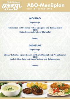 Das ABO-Menü aus der Schiestl-Wohlfühl-Küche startet ins Jahr 2016. Wir wünschen euch auch in diesem Jahr Guten Appetit und viel Spaß mit unserem einzigartigen ABO-Angebot.