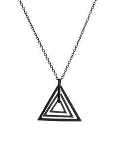 ASOS Geo Triangle Pendant Necklace | mens pendant necklace | menswear | mens style | mens fashion | wantering http://www.wantering.com/clothing-item/asos-geo-triangle-pendant-necklace/aaygU/